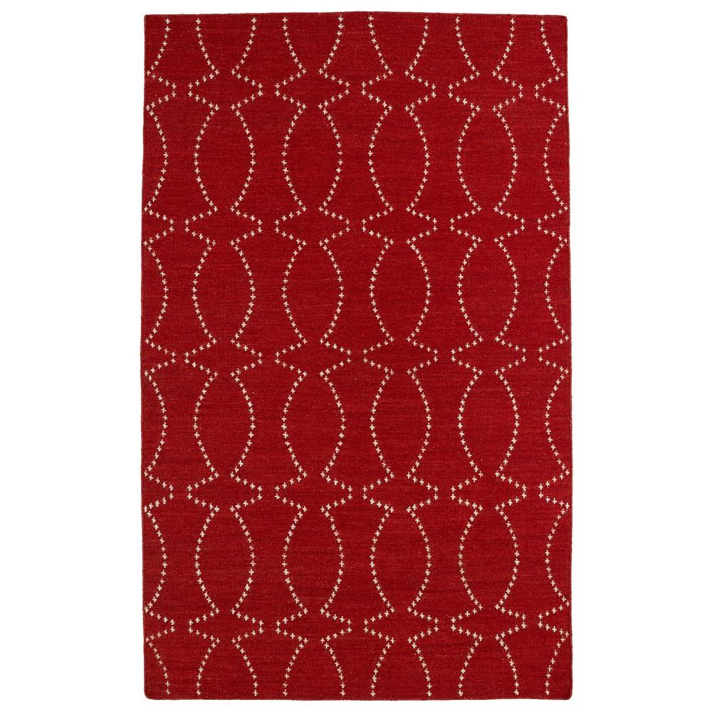 Kaleen Glam Red 9 ft. x 12 ft. Area Rug