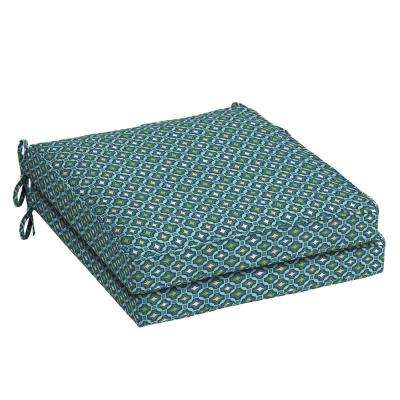 21 in. x 21 in. Alana Tile Square Outdoor Seat Cushion (2-Pack)