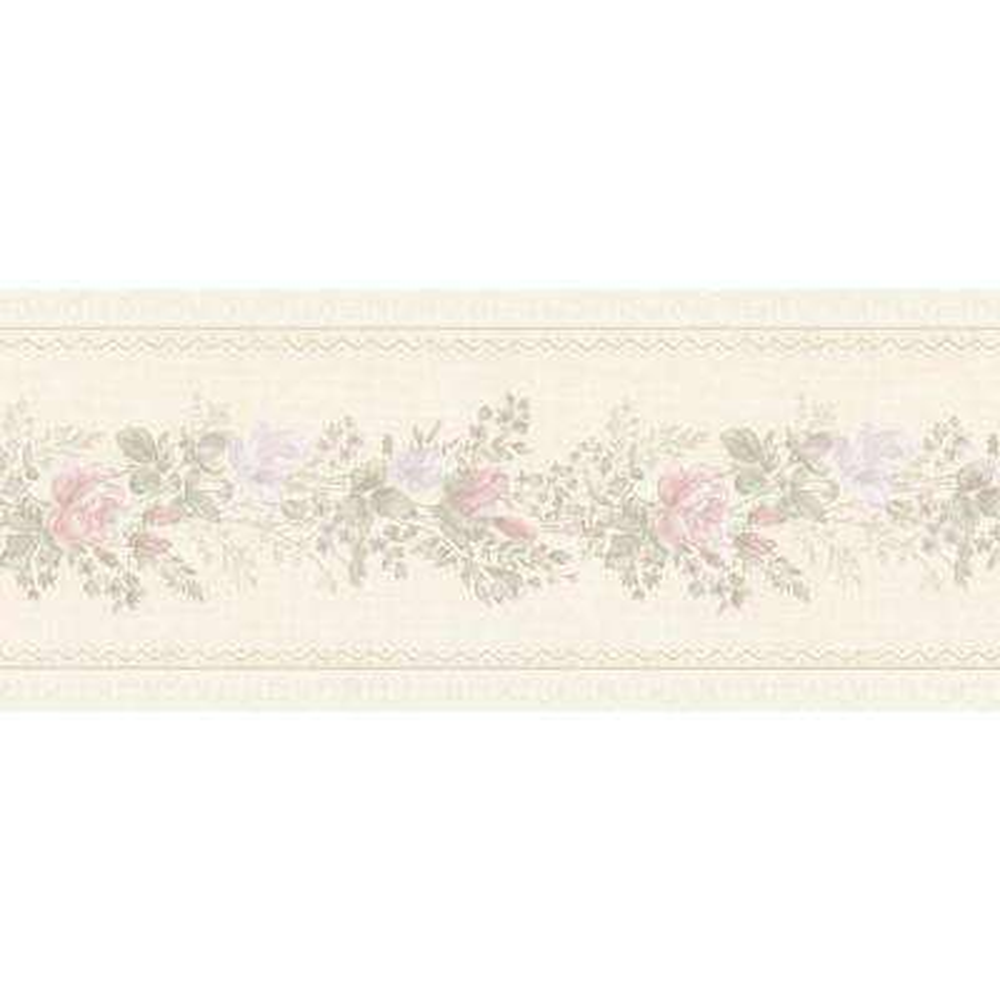 Alexa Pastel Floral Meadow Wallpaper Border Sample