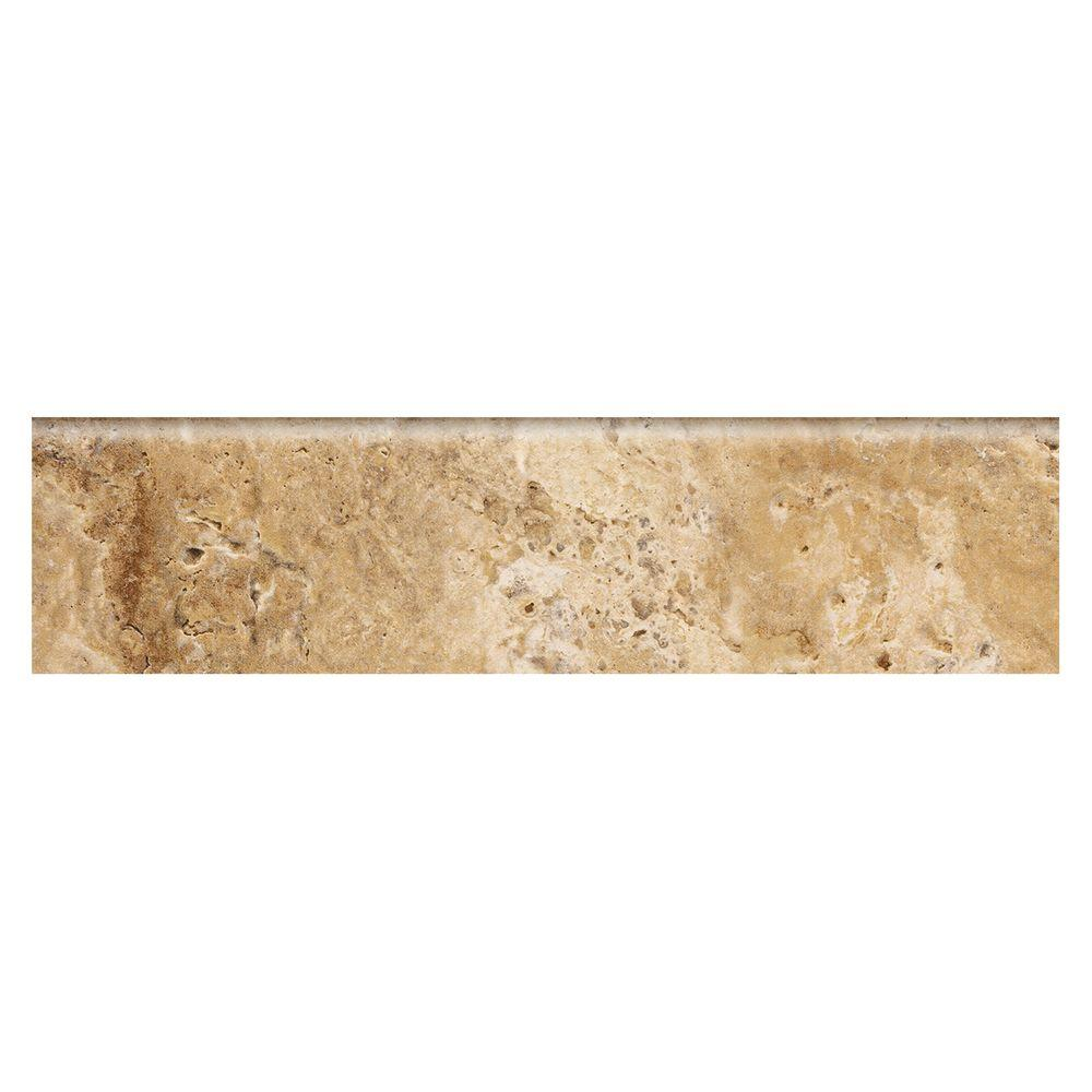 Marazzi Travisano Navona 3 In X 12 Porcelain Bullnose Trim Floor And Wall
