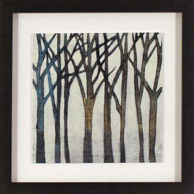 18 in. x 18 in. Birch Line Printed Framed Wall Art