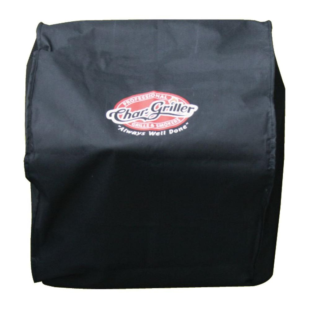 Char-Griller Table Top Grill Cover, Black The cover for the portable table top charcoal grill is custom fit to the Char-Griller Portable Table Top Grill and Smoker. Protects the Grill from sun, birds, rain and other elements. It is made of weather resistant material and extends the grills lifetime. Color: Black.