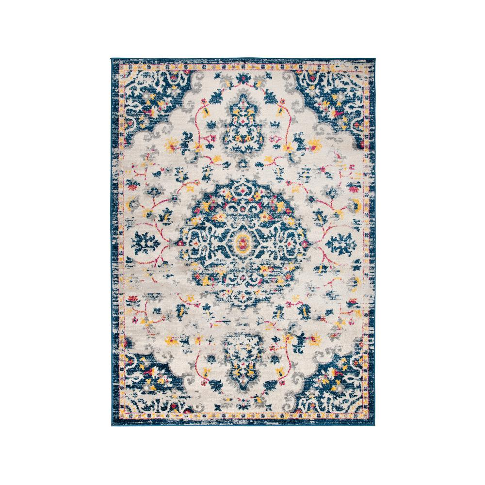 World Rug Gallery Medallion Distressed Bohemian Cream 3 Ft 3 In X 5 Ft Area Rug 724cream3x5 The Home Depot