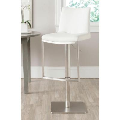 Ember Adjustable Height Stainless Steel Swivel Cushioned Bar Stool