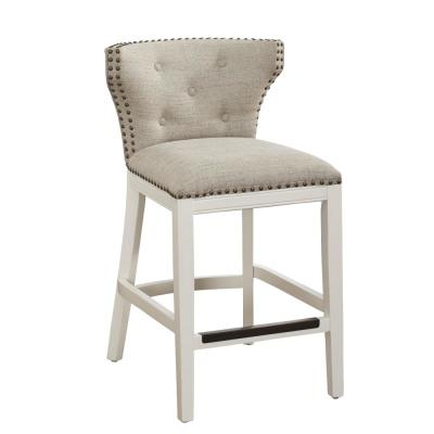 Carena 25 in. White Cushioned Counter Stool
