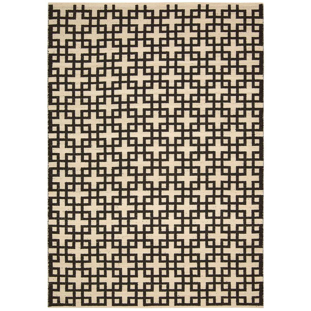 Nourison Overstock Maze Midnight 3 ft. 6 in. x 5 ft. 6 in. Area Rug
