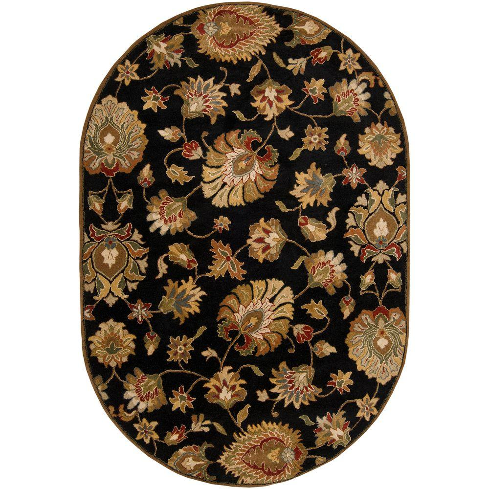 John Black 6 ft. x 9 ft. Oval Area Rug