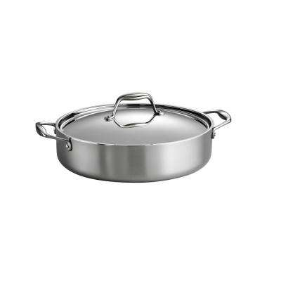 Gourmet Tri-Ply Clad 5 Qt. Covered Braiser