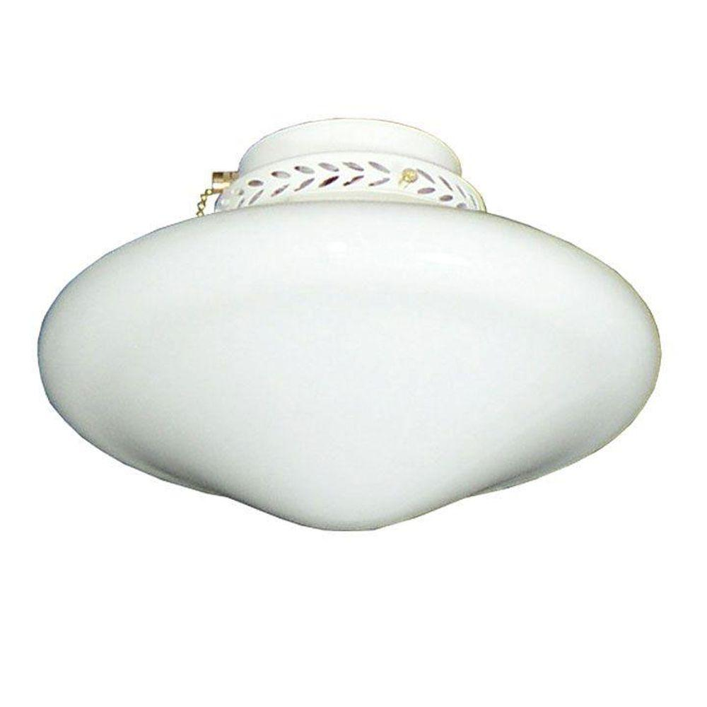 TroposAir 113 Tapered Schoolhouse Pure White Ceiling Fan Light