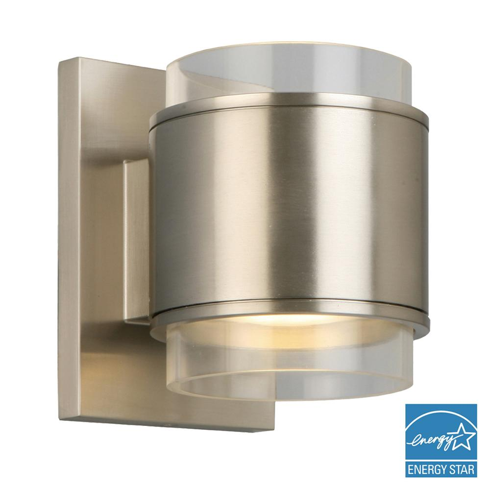 Captivating 5 Watt Brushed Nickel Integrated LED Wall Sconce