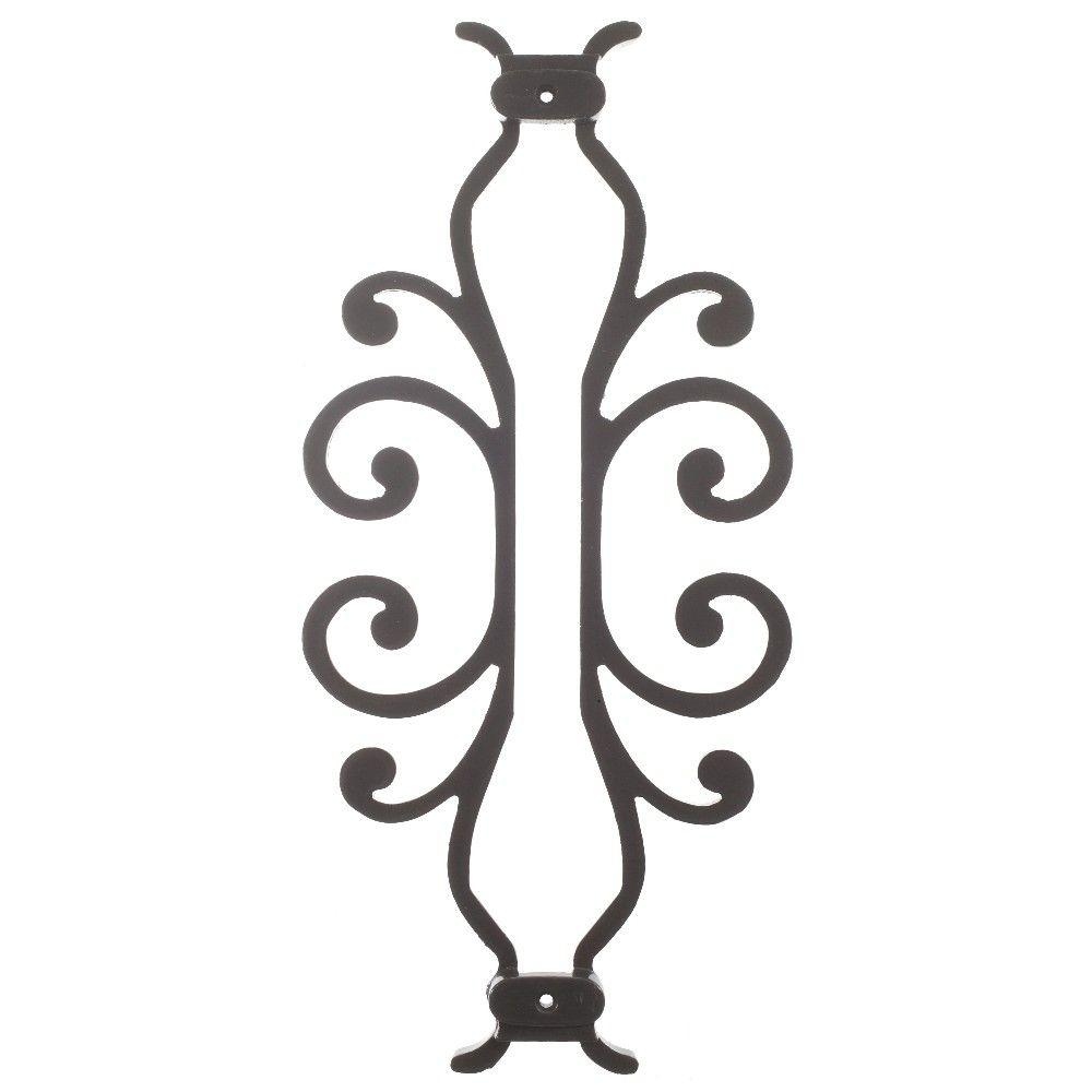 American Heritage 15 in. x 7-5/8 in. Aluminum Charcoal Baluster Centerpiece, Charcoal Smooth
