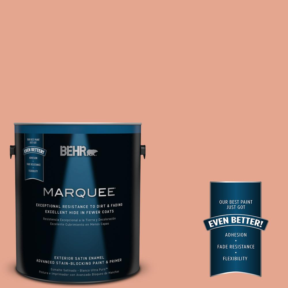 BEHR MARQUEE 1-gal. #M180-4 Priceless Coral Satin Enamel Exterior Paint