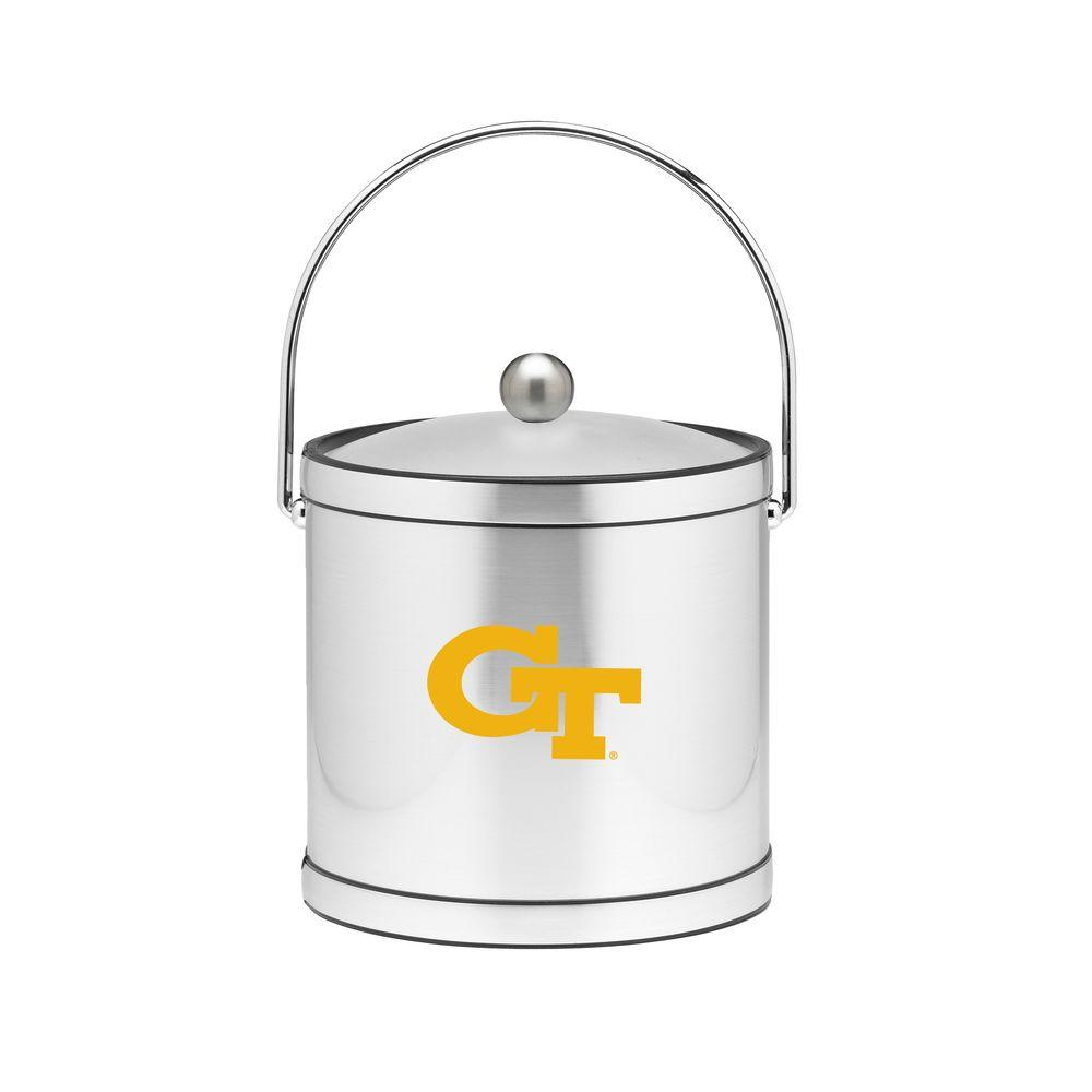 Kraftware Georgia Tech 3 Qt. Brushed Chrome Mylar Ice Bucket