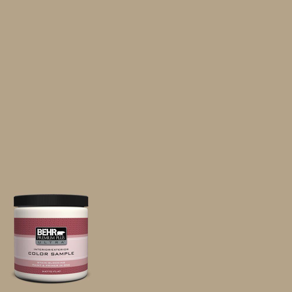 BEHR Premium Plus Ultra 8 oz. Home Decorators Collection Curly Willow Interior/Exterior Paint Sample