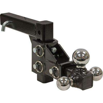 1-7/8 in., 2 in., 2-5/16 in. Chrome Towing Balls Adjustable Tri-Ball Hitch
