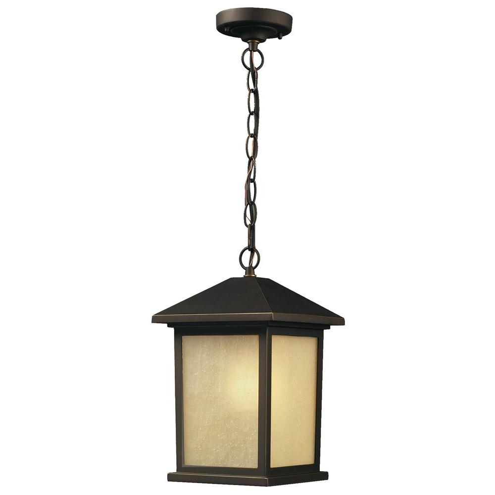 Lawrence Oil-Rubbed Bronze 1-Light Incandescent Outdoor Wall Light