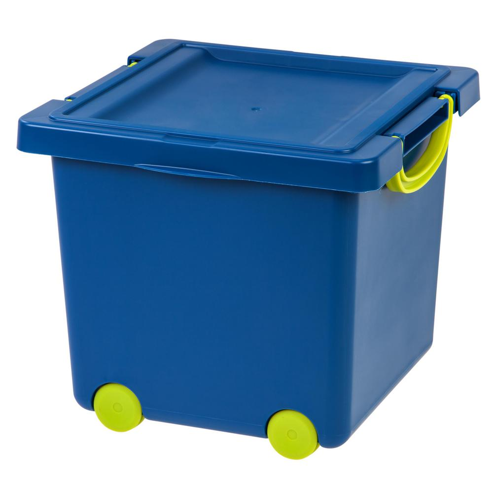 Iris 31 Qt Toy Storage Box In Blue 102781 The Home Depot