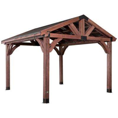 Arlington 12 ft. x 12 ft. Wooden Gazebo with Steel Roof
