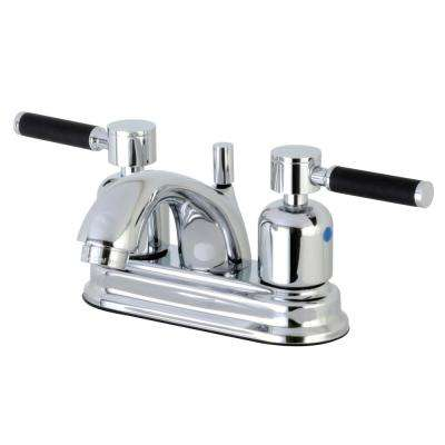 Modern 4 in. Centerset 2-Handle Bathroom Faucet in Chrome