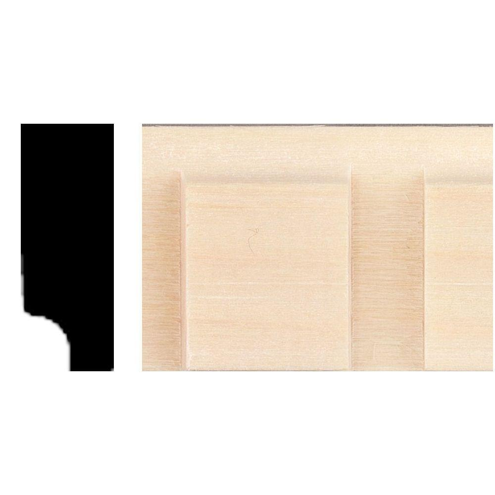 null 3/8 in. x 1 in. x 8 ft. Hardwood Dentil Panel Moulding