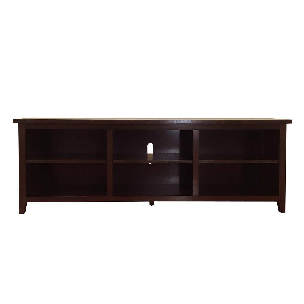 Donnieann Brookdale Dark Walnut Tv Stand Fits Tvs Up To 80 In