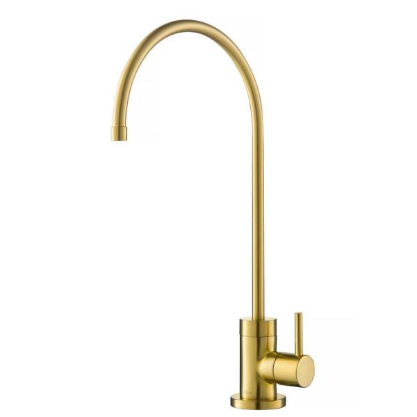 Purita Single-Handle Water Dispenser Faucet for Water Filtration System in Brushed Brass