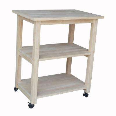Unfinished Kitchen Cart With Shelf