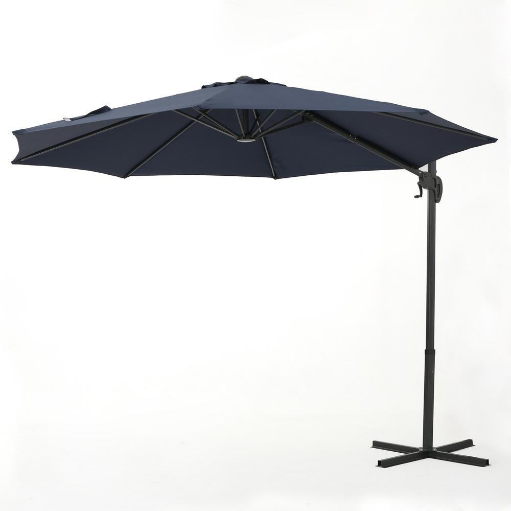 Sofia 11.5 ft. Steel Cantilever Tilt Patio Umbrella in Blue