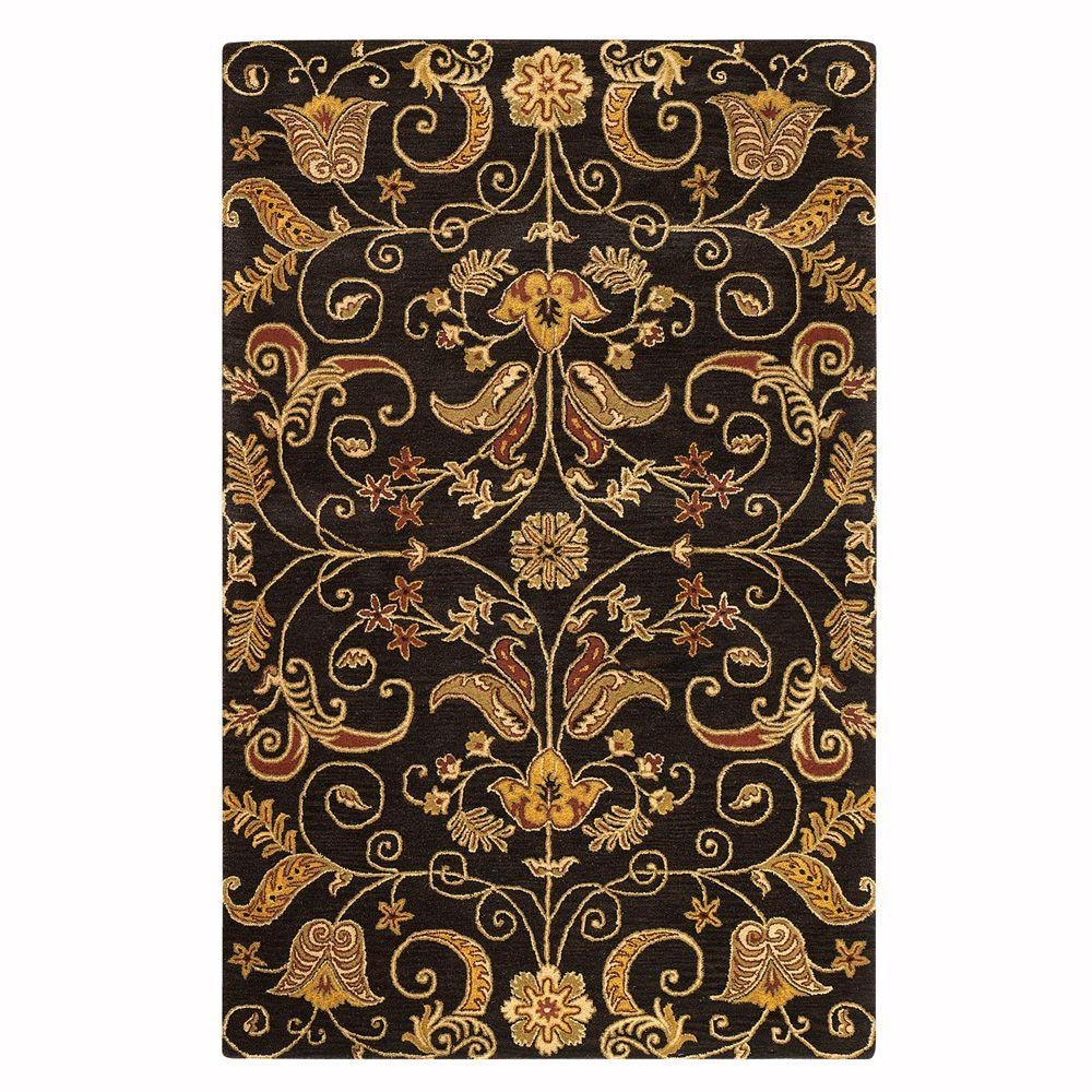Home Decorators Collection Ansley Brown 9 ft. 9 in. x 13 ft. 9 in. Area Rug