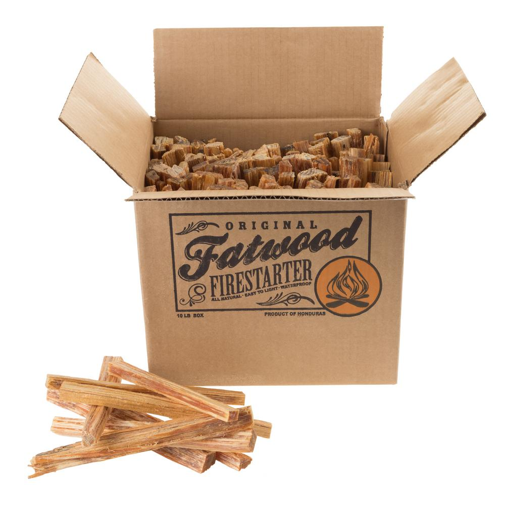 Pure Garden 10 lb. Fatwood Firestarter Kindling Sticks