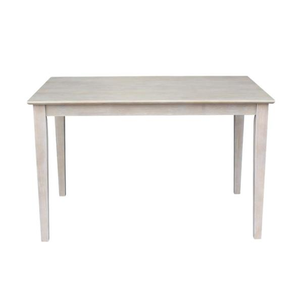 30 in. x 48 in. Weathered Taupe Gray Shaker Dining Table