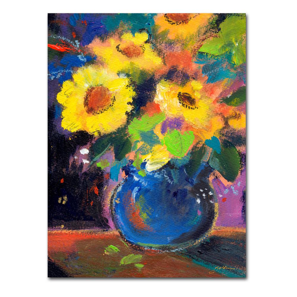 Trademark Fine Art 32 In X 24 Yellow Blue By Sheila