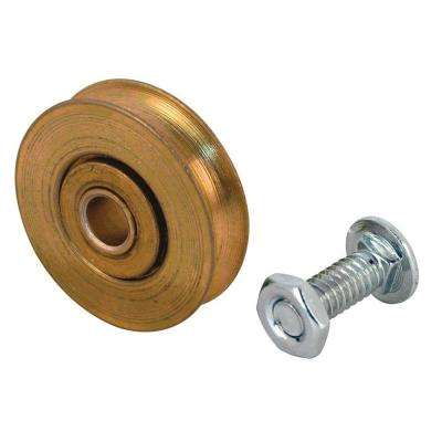 Screen Door Roller Assembly, 1-1/4 in. Steel Ball Bearing Wheel