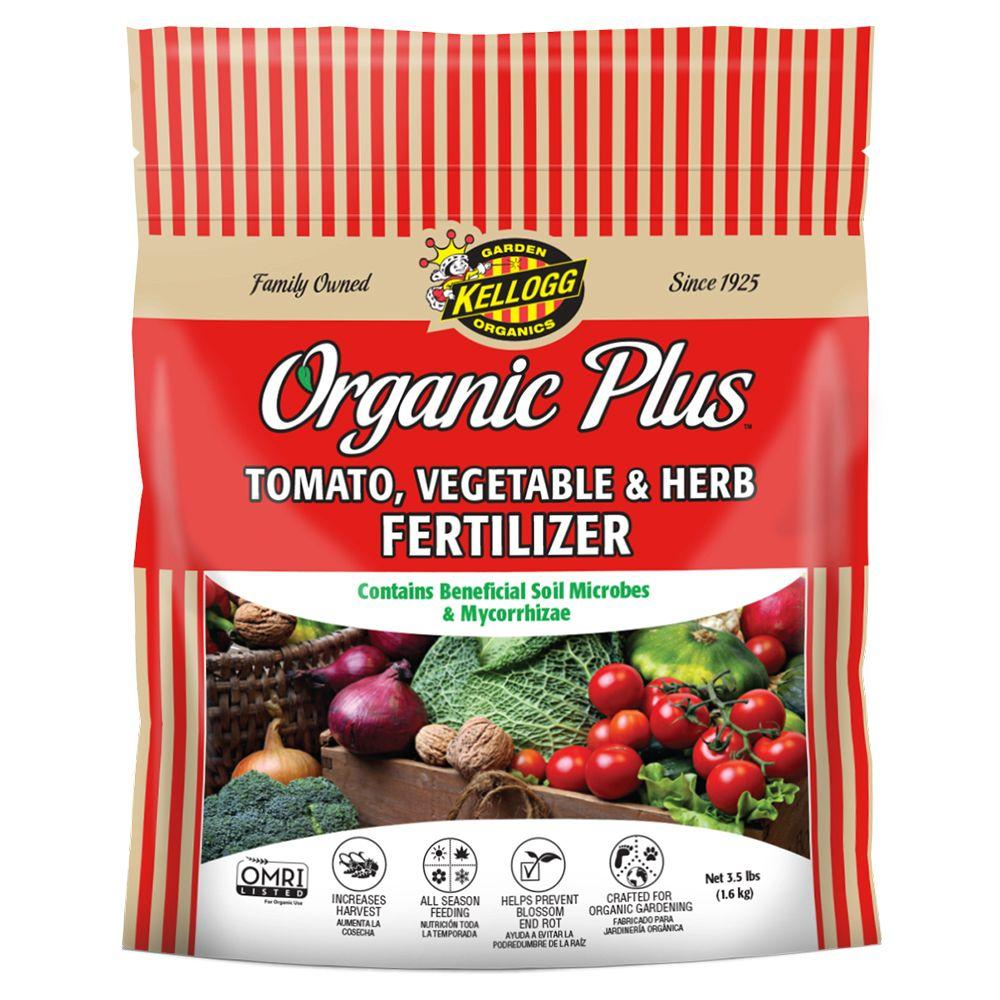 Kellogg garden organics 3 5 lb tomato vegetable and herb for Vegetable garden fertilizer