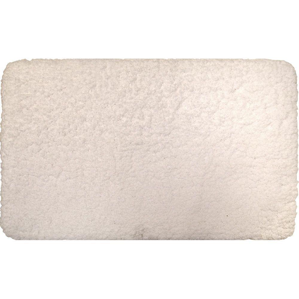 Superior White 21 in. x 34 in. Microfiber Bath Mat
