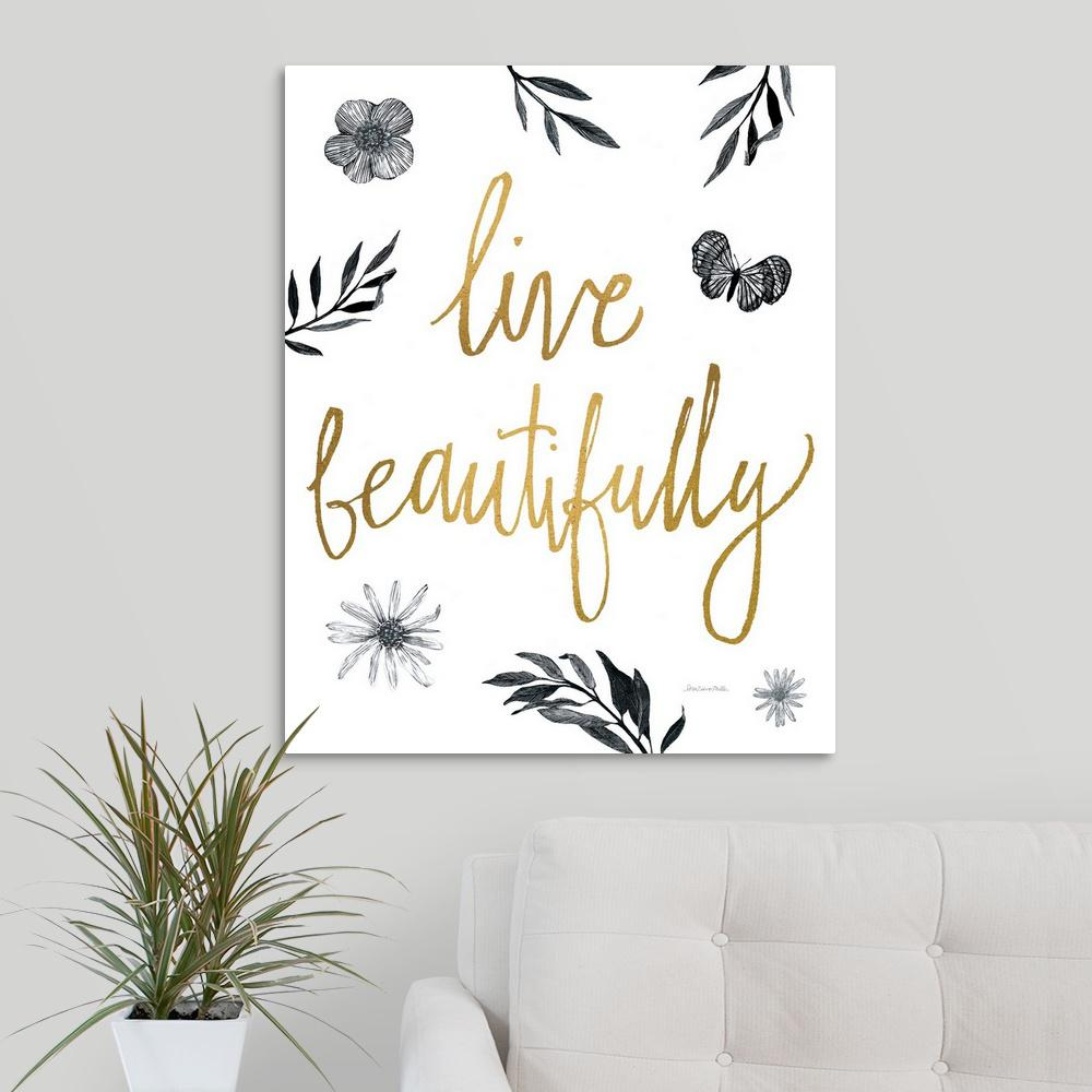 24 x 48 Be Strong and Courageous Poster Print by Alli Rogosich