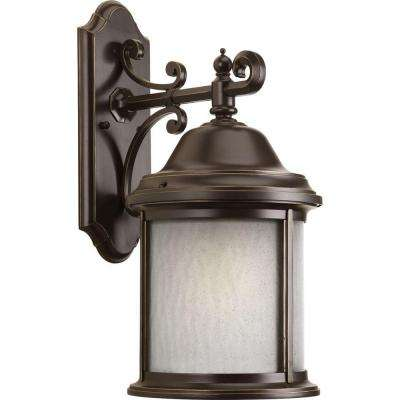 Ashmore Collection 1-Light Antique Bronze Fluorescent Outdoor Wall Lantern