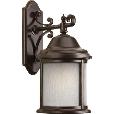 Ashmore Collection 1-Light Antique Bronze Fluorescent 20.5 in. Outdoor Wall Lantern Sconce