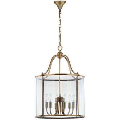 Sutton Place 6-Light Brass Large Pendant
