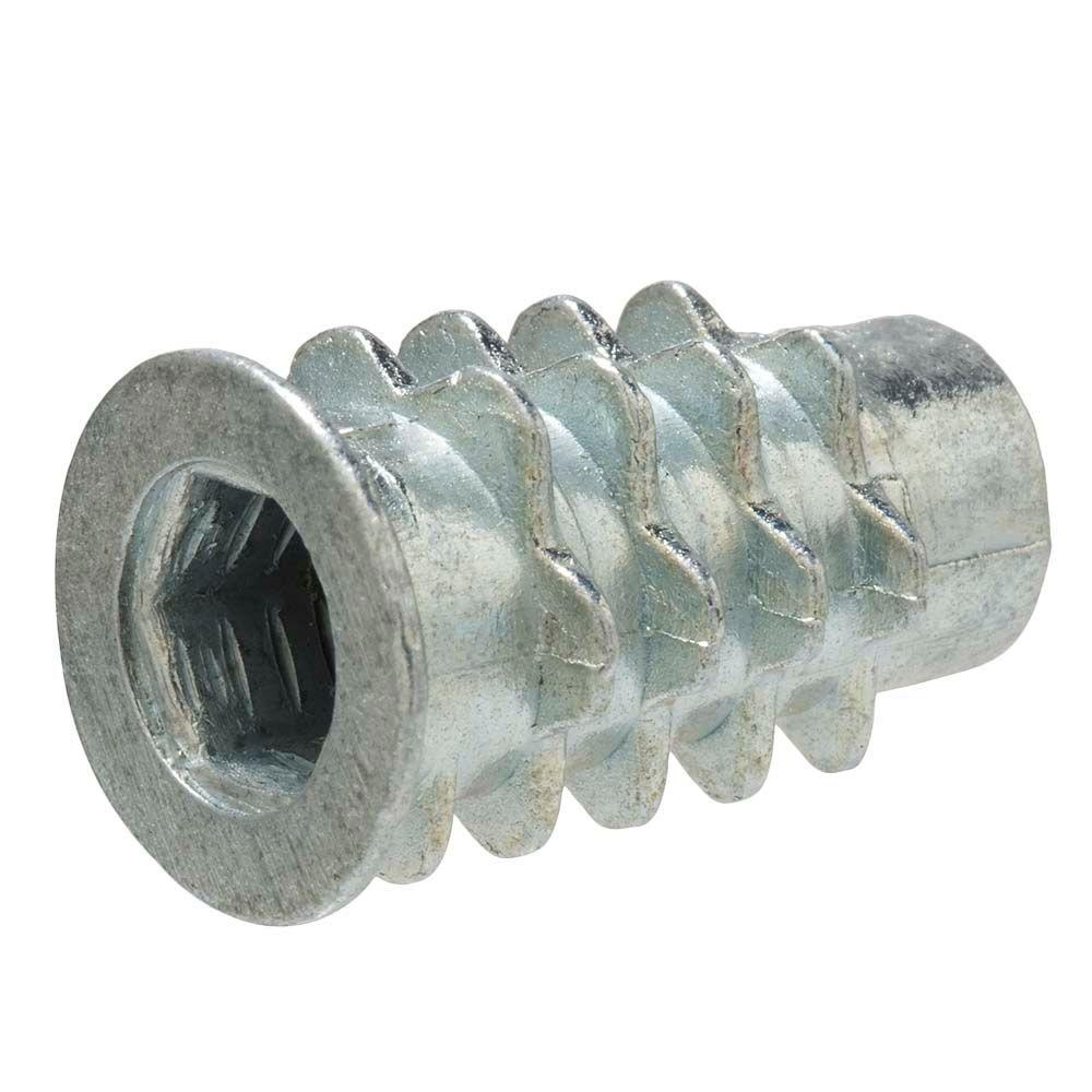 Everbilt 1/4 in  x 20 mm Type D Zinc Insert Nut Screw