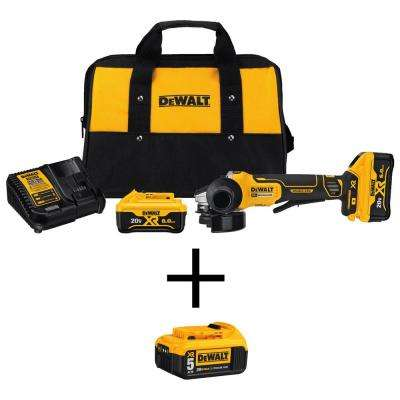 20-Volt MAX XR Lithium-Ion Cordless 4-1/2 in. Brushless Paddle Switch Angle Grinder Kit w/ Bonus 20-Volt 5.0Ah Battery