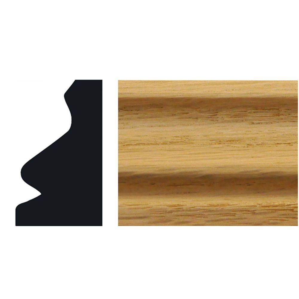 3/4 in  x 1-1/4 in  Solid Oak Shoe Base Moulding
