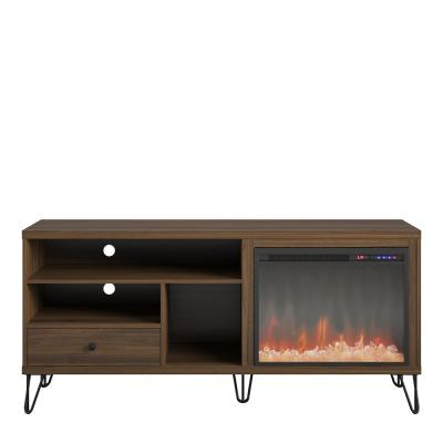 Montrose 59 in. Freestanding Electric Fireplace TV Stand Fits TV's up to 65 in. in Walnut