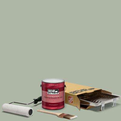 1 gal. #N390-3 Jojoba Ultra Matte Interior Paint and 5-Piece Wooster Set All-in-One Project Kit