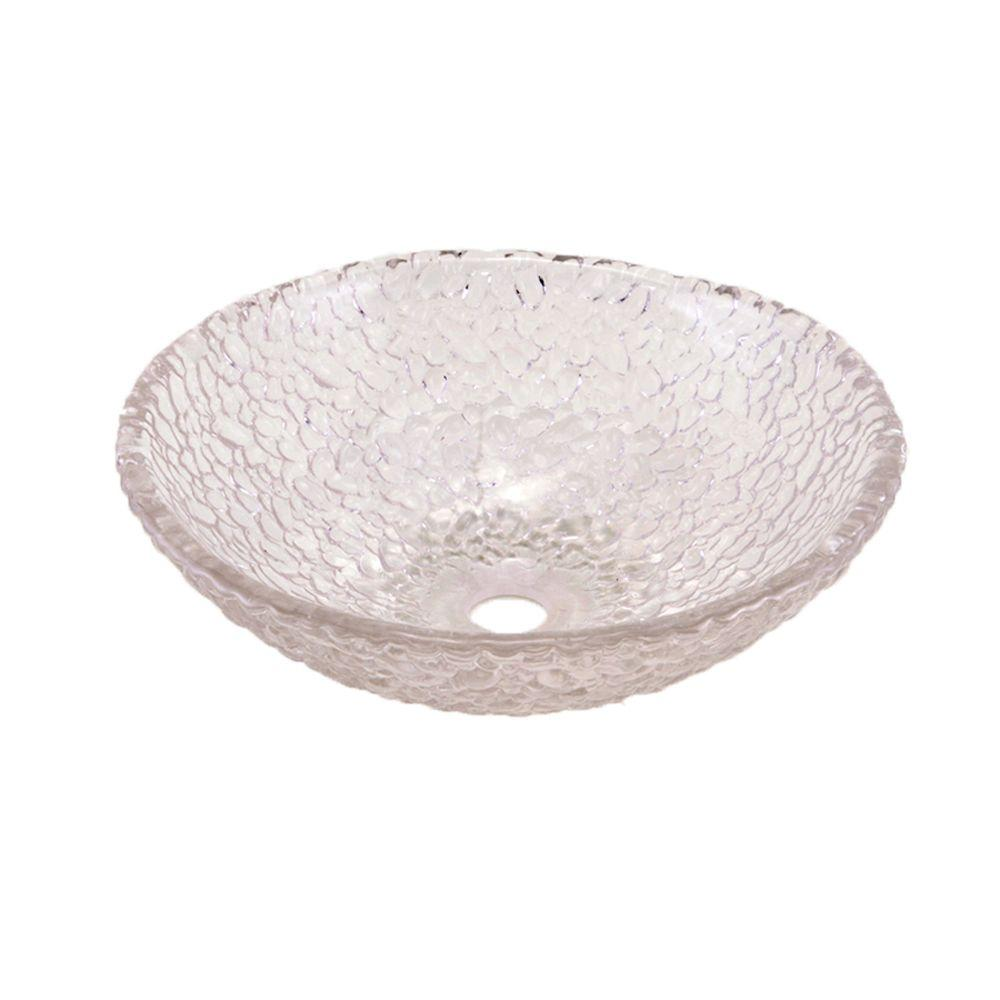 JSG Oceana Pebble Vessel Sink in Crystal