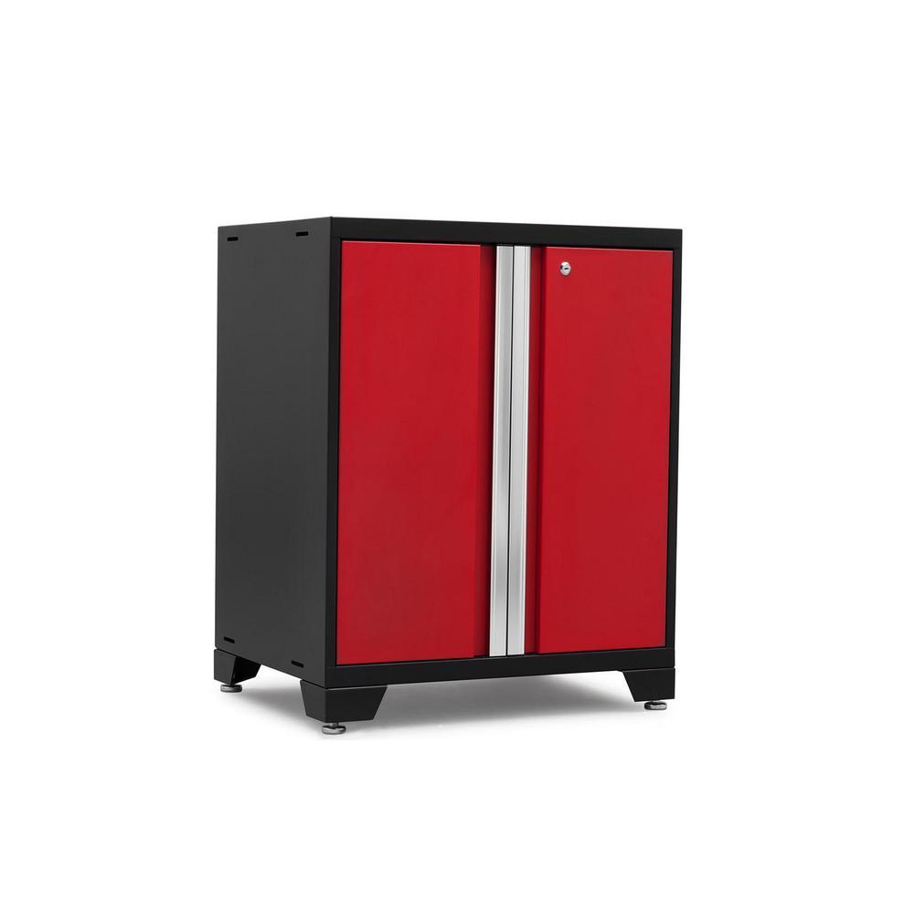 Pro 3.0 Series 28 in. W x 35.5 in. H x 22 in. D 18-Gauge Welded Steel 2-Door Base Cabinet in Red