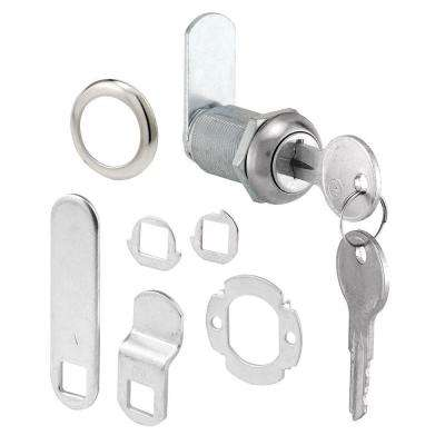 1-1/8 in. Chrome Drawer and Cabinet Keyed Cam Lock