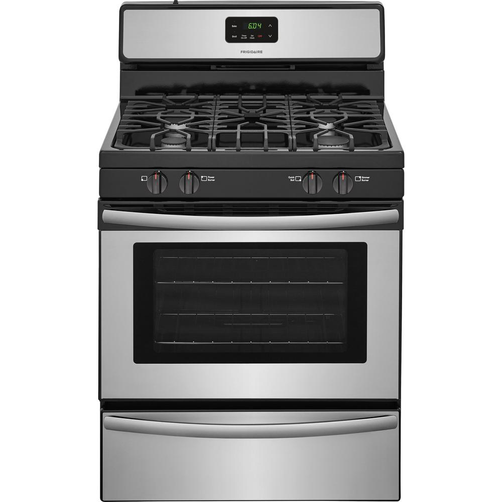 Frigidaire 30 In 4 2 Cu Ft Gas Range Stainless Steel