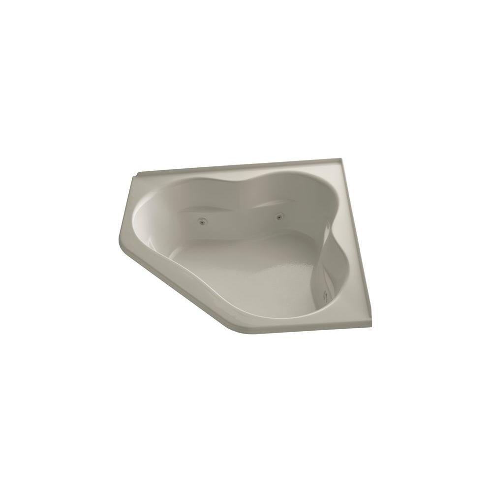 KOHLER Tercet 5 ft. Acrylic Oval Drop-in Whirlpool in Sandbar
