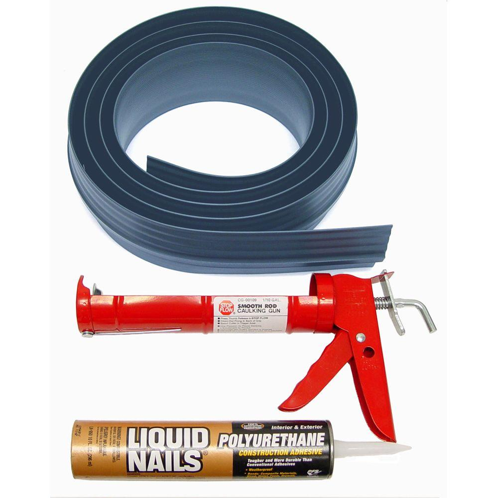 Tsunami Seal 10 ft. Gray Garage Door Threshold Kit